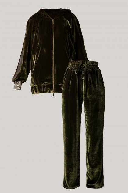 PRECIOUS VELVET HOODIE & DIVERTING VELVET PANTS SET