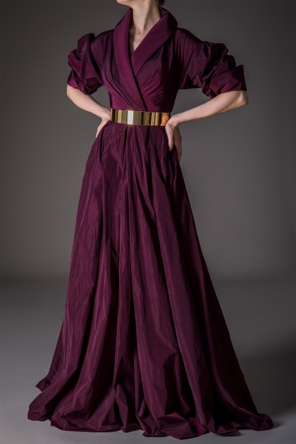 MAJESTIC LONG TAFFETA GOWN