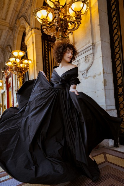 IMPERIAL LONG TAFFETA GOWN
