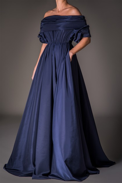 GRANDIOSE LONG TAFFETA DRESS
