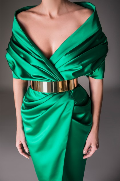 LUXURIOUS SATIN MIDI DRESS