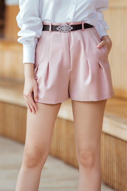 SHORT PLEATED PANTS