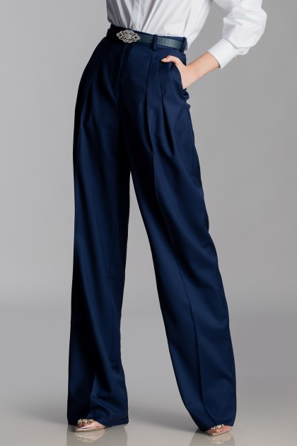 NAVY COSMOPOLITAN WIDE PANTS