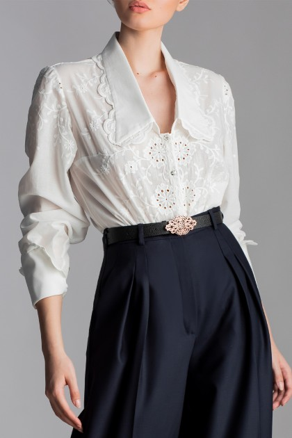 NOVEL LACE EMBROIDERED SHIRT