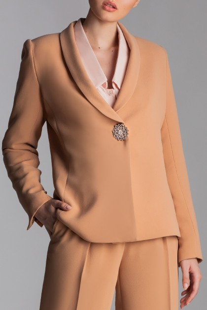 SHAWL COLLAR CREPE JACKET