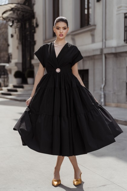 BLACK OPEN BACK JOY DRESS