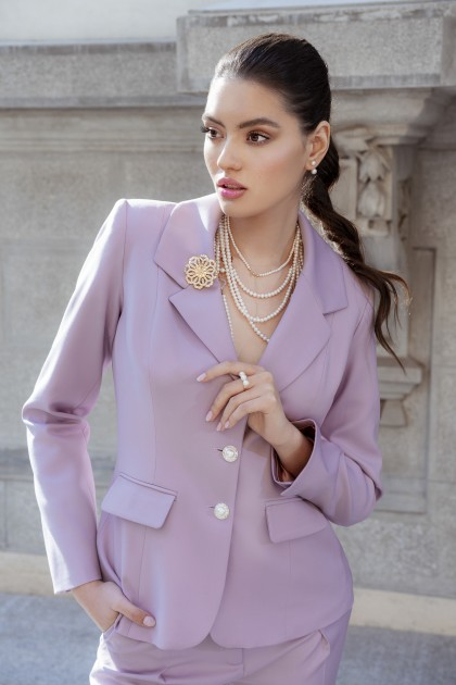 LAVENDER CLASSIC TWO BUTTONS BLAZER