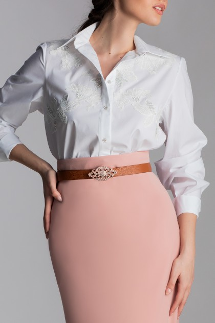 EMBROIDERED CLASSIC COTTON SHIRT