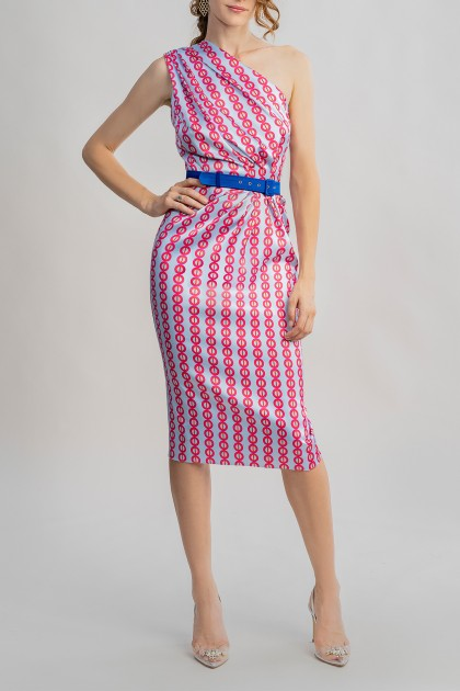 GINGER DRESS WITH UNION PRINT