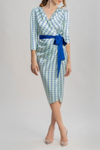 ROMY DRESS WITH UNION PRINT