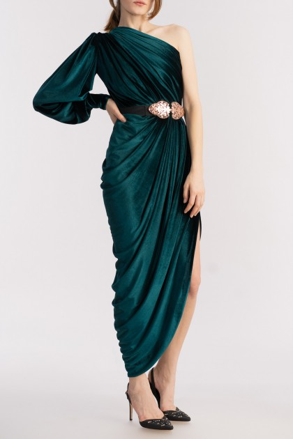 ADRIENNE VELVET DRESS